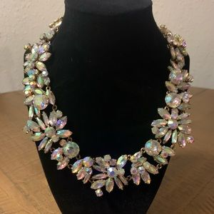 J. Crew White Crystal Statement Necklace